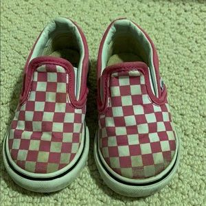 Checked vans- toddler size 4.5